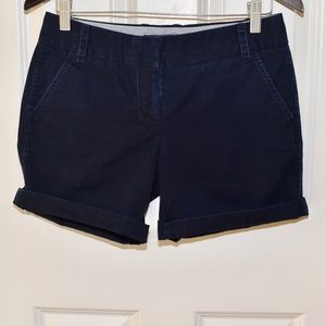 Navy Blue J.Crew Chino Shorts